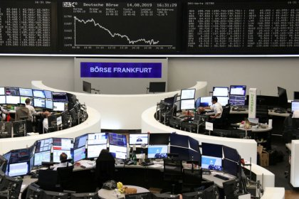 European shares steady after steep sell-off