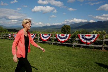 Democrat Elizabeth Warren floats plan to empower Native Americans