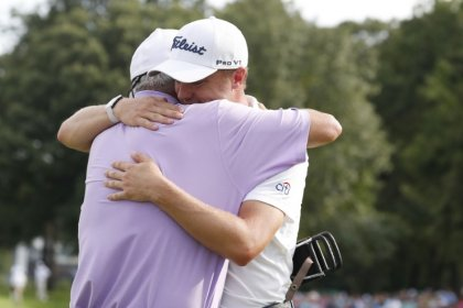 Relieved Thomas wins BMW Championship by three strokes over Cantlay