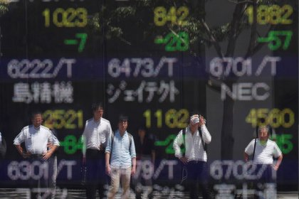 Asia shares edge up as stimulus hopes temper recession worries