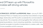 微软加入自动驾驶领域竞争 与通用汽车及Cruise达成战略伙伴关系