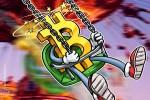 Volatilidade do Bitcoin mais do que triplica em um mês em meio à queda de preços da cripto