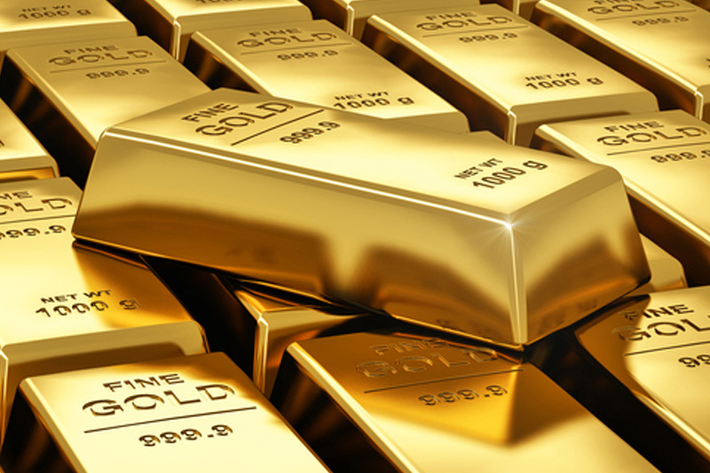 Gold was lower on Monday.
