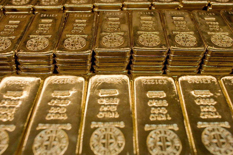 Gold prices were roughly flat on Friday