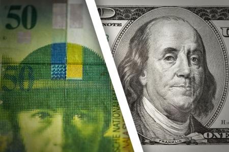 الفرنك يسجل تراجعاً ملحوظاً أمام الدولار واليورو
