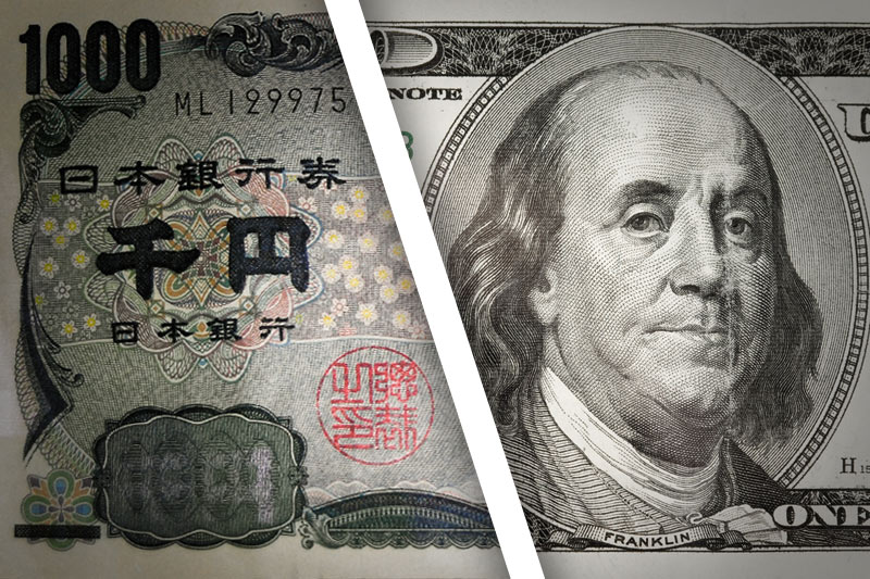 Dollar re-approaches 7-year highs against yen