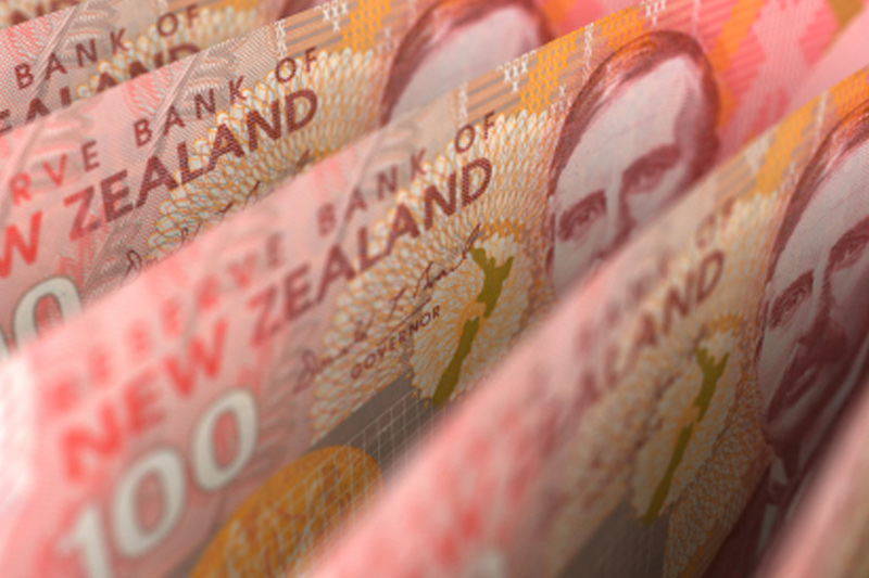 Kiwi falls vs. greenback but N.Z. data supports