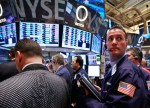 US STOCKS-Wall St climbs as financials gain, but off earlier highs