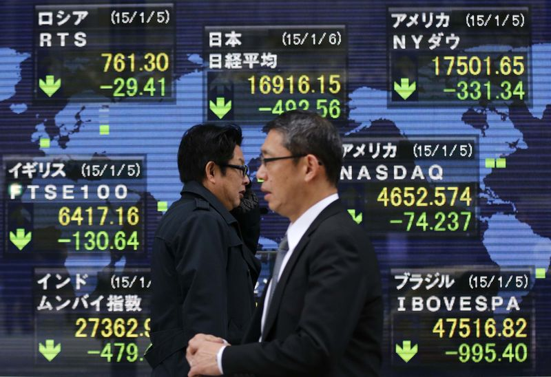 Asia stocks gain after upbeat U.S. jobs, euro lingers near nine-year low