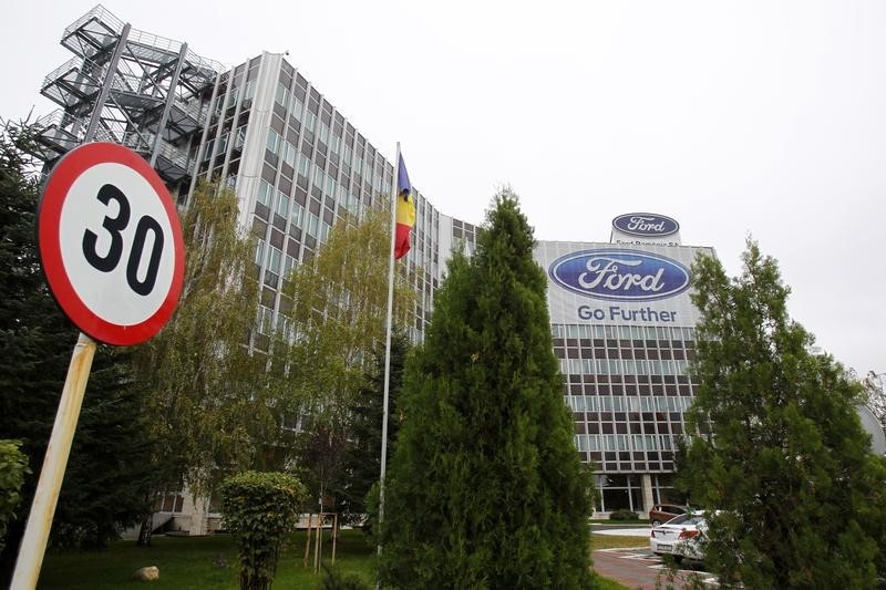 © Reuters. The Ford car plant headquarters is seen in Craiova