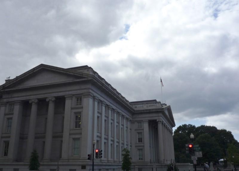 U.S. fiscal year budget deficit widens to $587 billion