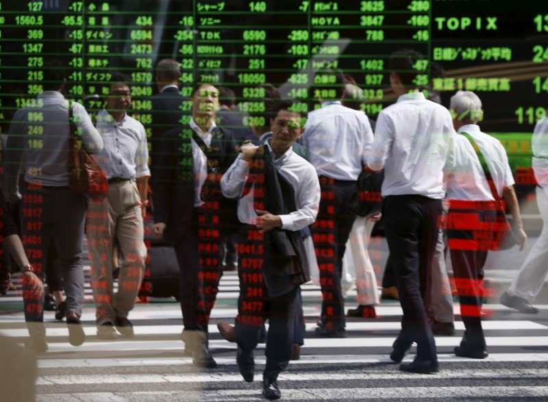 Asia stocks up with dollar, sterling cold shouldered on Brexit day