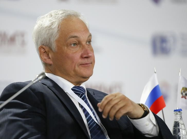 © Reuters. Russian presidential aide Belousov attends the Gaidar Forum 2015
