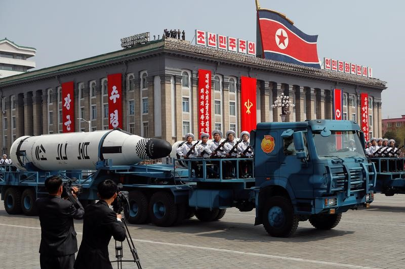 © Reuters. A Picture and its Story: Noth Korea on parade