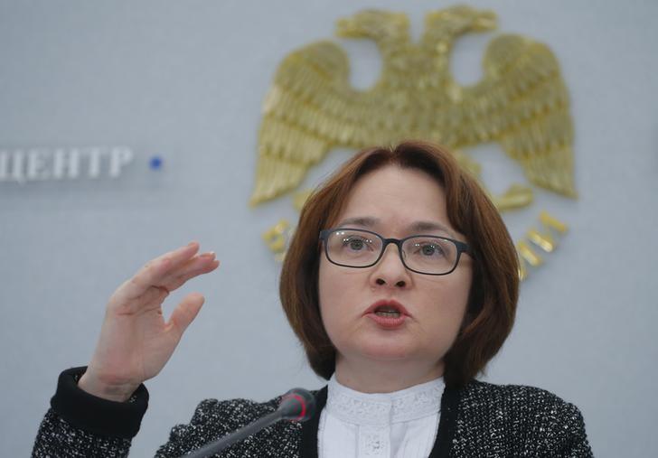 © Reuters. Глава ЦБР Эльвира Набиуллина на пресс-конференции в Москве
