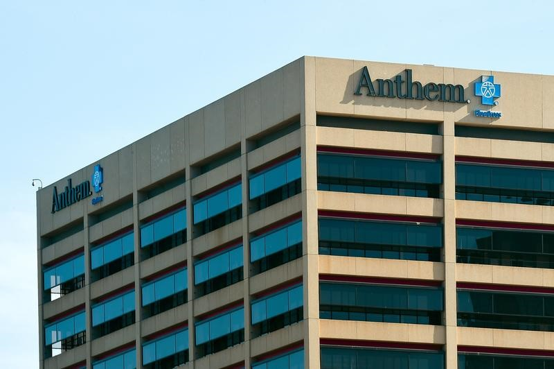 The office building of health insurer Anthem in seen in Los Angeles, California