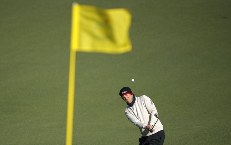 © Reuters. Bernd Wiesberger of Austria hits to the second green flag during the 2017 Masters in Augusta