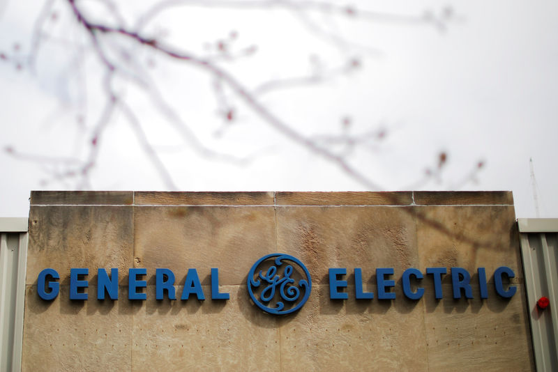 © Reuters. A sign marks a General Electric facility in Medford