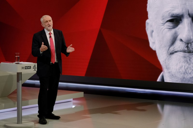 UK election rivals May and Corbyn set out opposing EU 'no deal' stances