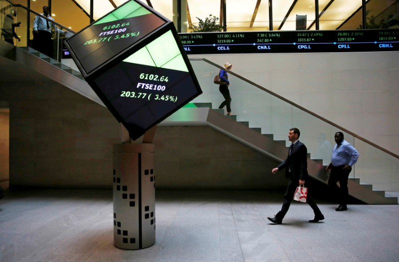 European shares off to sluggish start as miners weigh, FTSE up