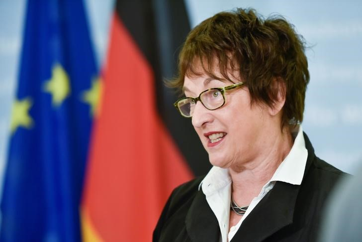 © Reuters. Interview with German Minister for Economic Affairs and Energy, Brigitte Zypries