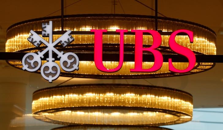 © Reuters. The logo of Swiss bank UBS is seen at a branch office in Basel