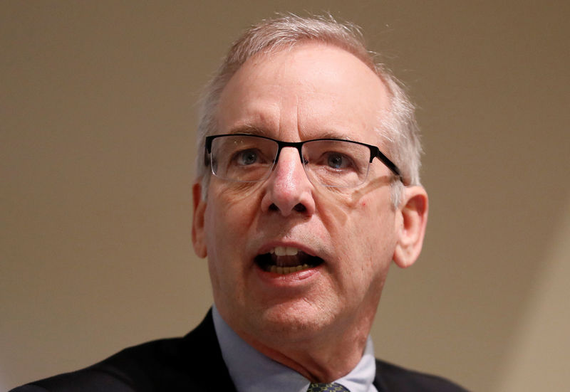 © Reuters. FILE PHOTO: William C. Dudley, President and Chief Executive Officer of the Federal Reserve Bank of New York speaks during a panel discussion at The Bank of England in London