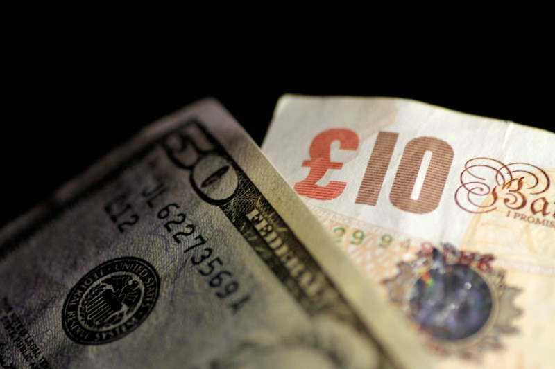 © Reuters. FILE PHOTO: Illustration photo of British Pound Sterling and U.S. Dollar notes