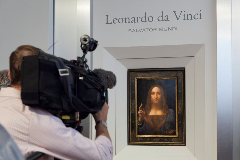 © Reuters. Christie's New York image of Leonardo da Vinci painting Salvator Mundi