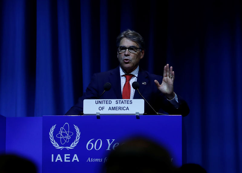 © Reuters. U.S. Energy Secretary Perry attends the opening of the IAEA General Conference in Vienna
