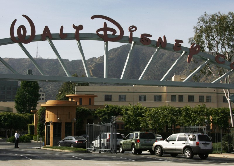 © Reuters. The main gate of entertainment giant Walt Disney Co. is pictured in Burbank