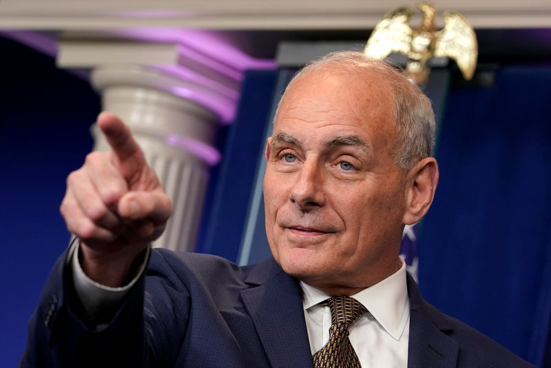 © Reuters. White House Chief of Staff John Kelly gestures