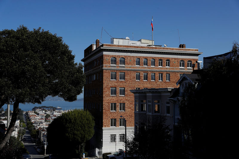 © Reuters. The Consulate General of Russia is seen in San Francisco, California