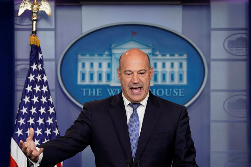 © Reuters. FILE PHOTO: White House chief economic adviser Gary Cohn speaks during a press briefing