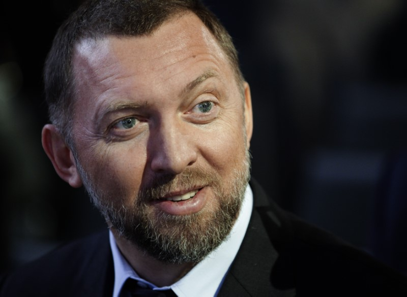 © Reuters. Russian tycoon Deripaska, president of En+ Group, attends the annual meeting of the World Economic Forum (WEF) in Davos
