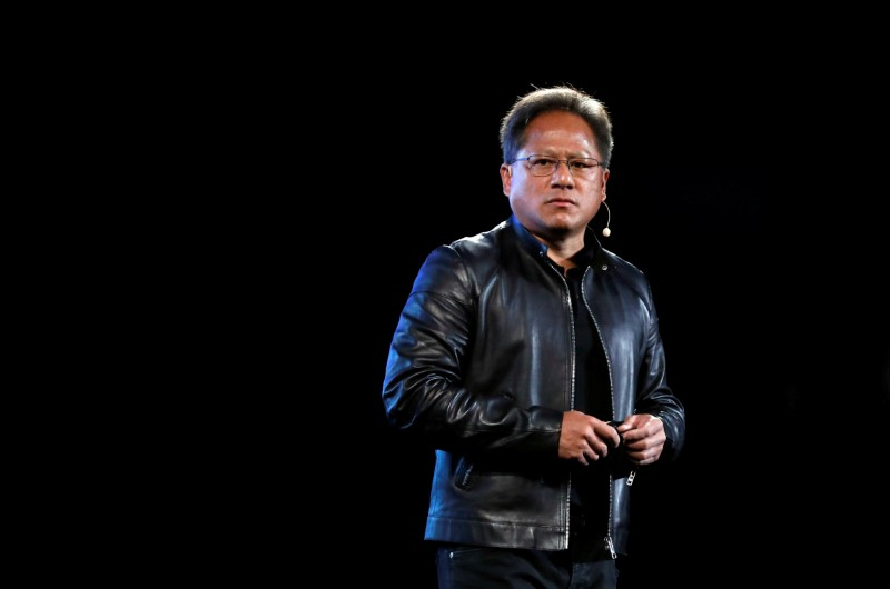 © Reuters. FILE PHOTO: Nvidia co-founder and CEO Jensen Huang attends an event during the annual Computex computer exhibition in Taipei
