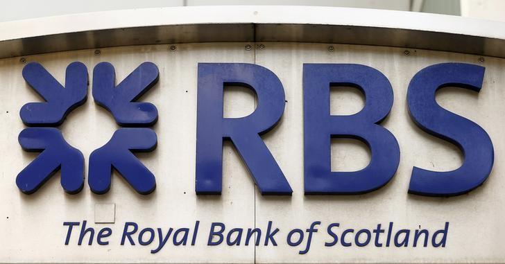 © Reuters. Логотип Royal Bank of Scotlandна здании банка в Цюрихе