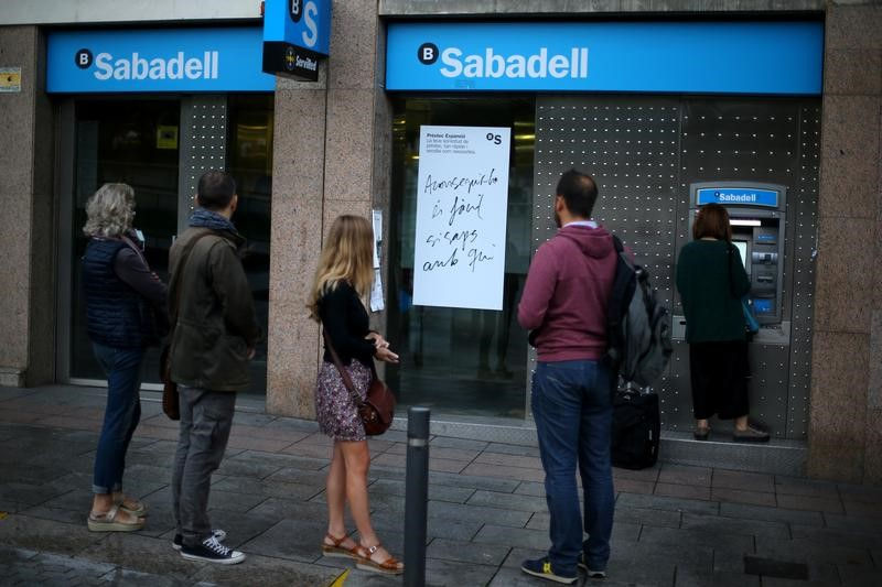 Catalonia casts shadow on positive BBVA, Sabadell results