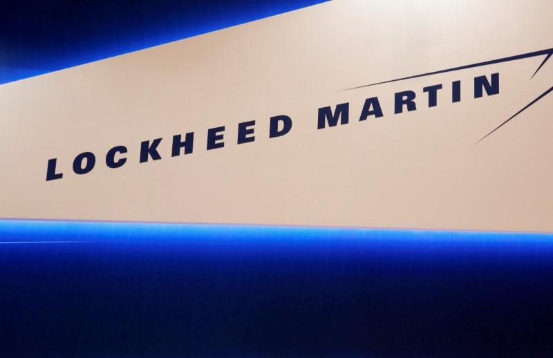 © Reuters. FILE PHOTO: Lockheed Martin's logo is seen during Japan Aerospace 2016 air show in Tokyo