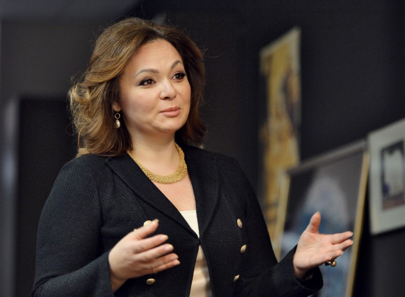 © Reuters. FILE PHOTO: Russian lawyer Natalia Veselnitskaya speaks during an interview in Moscow