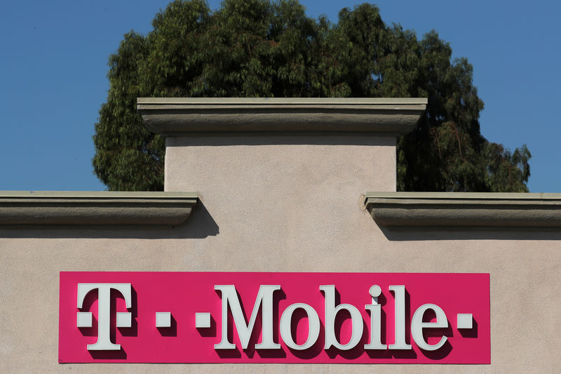 © Reuters. A T-Mobile shop is pictured in San Ysidro