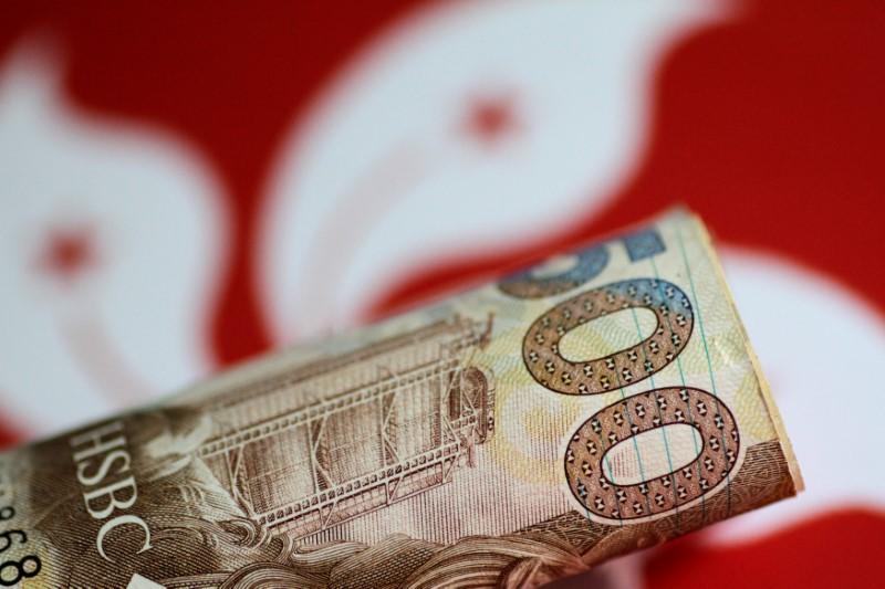 © Reuters. FILE PHOTO: Illustration photo of a Hong Kong dollar note