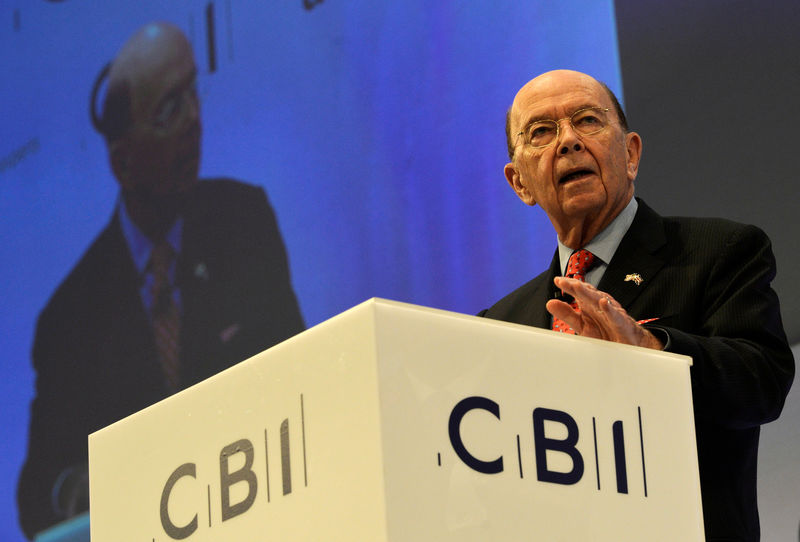 © Reuters. U.S. Commerce Secretary Wilbur Ross, speaks at the Conferederation of British Industry's annual conference in London