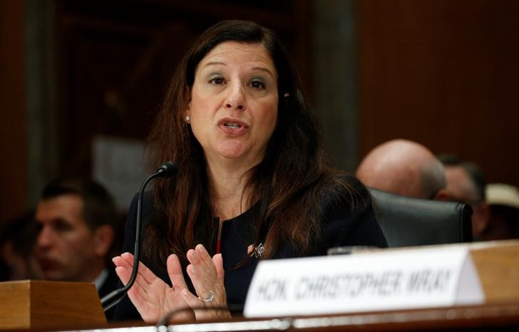© Reuters. Elaine Duke testifies at a