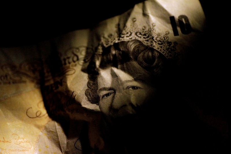 © Reuters. FILE PHOTO: Illustration photo of a British Pound Sterling note