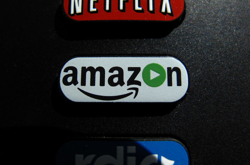 © Reuters. The Amazon TV button on a remote control is shown in this photo illustration