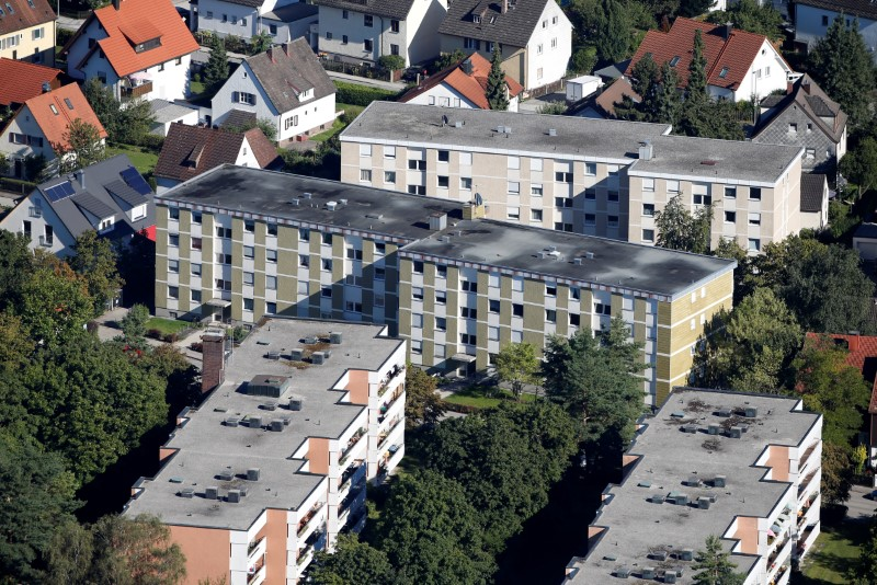 © Reuters. General view at residential building of village Groebenzell