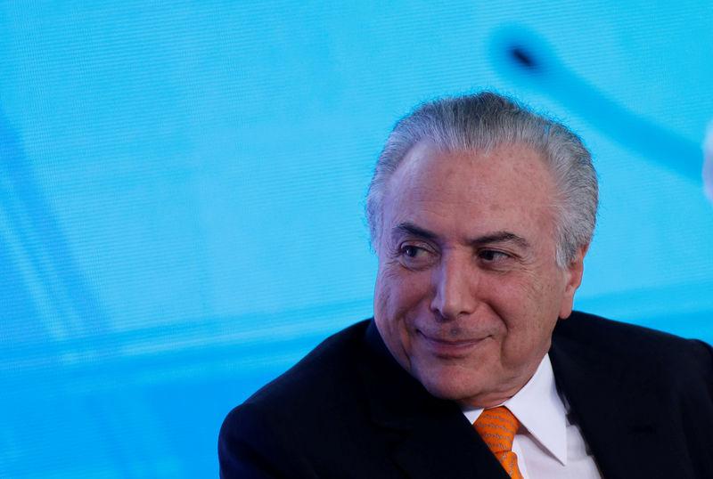 © Reuters. Temer participa de cerimônia no Palácio do Planalto
