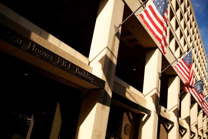 © Reuters. FILE PHOTO: A general view of the U.S. Federal Bureau of Investigation (FBI) building in Washington