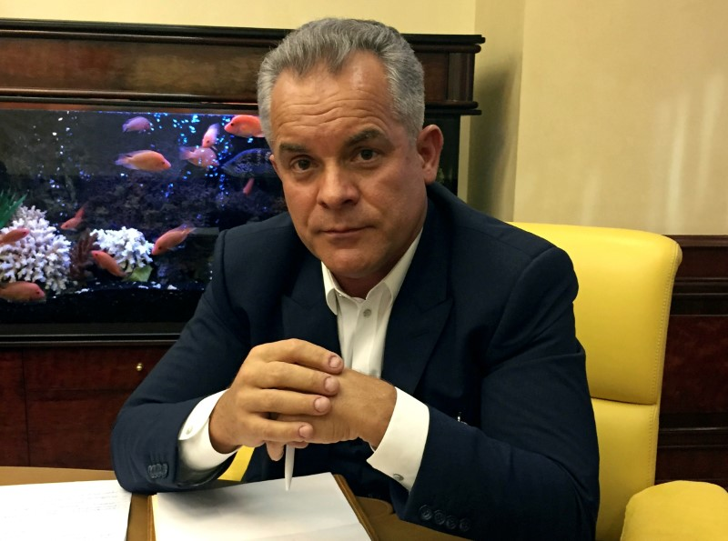 © Reuters. Moldova's media tycoon Plahotniuc attends interview with Reuters at his office in Chisinau